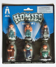 """Homies **** Series 1 carded complete set of 6 sealed figures  1.75"""" 1:32 scale"""