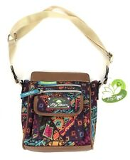 New Lily Bloom Green Living Jamie Crossbody Bag Purse Patched Shapes Rare Print