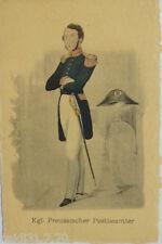 """Postbote, Kgl. Preussischer Postbeamter"" 1907 ♥ (12473)"