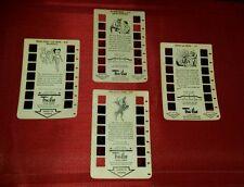 LOT of 4 Vintage Tru-Vue Film Card MOUSEKETEERS, Zorro,  LONE RANGER