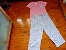 Ladies Sleepwear 3/4 PJ 2 Piece Set Size 8-10