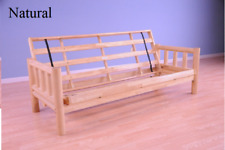 "Kodiak full 81"" Lodge futon frame, natural or walnut.  Mattress NOT included"