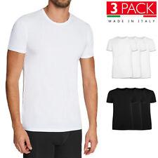 3 Pezzi T Shirt Uomo Canotta 100% Cotone Made In Italy Maglia Intima VEQUE