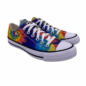 Converse Chuck Taylor All Star Classic Tie Dye Rainbow Low Top Sneaker WOMEN 8.5