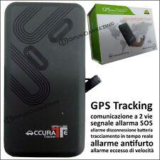 LOCALIZZATORE GPS TRACKER 2 VIE ANTIFURTO SIM SATELLITARE PER AUTO CAMPER BARCA