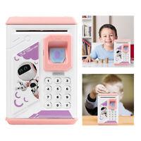 Fingerprint Electric Piggy Bank ATM Password Money Saving Box For Christmas Gift