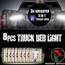 8pc Truck Bed White Led Lighting Light Kit For Toyota Tundra Pickup Trucks