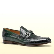 $1750 New Authentic Gucci Mens Ostrich Horsebit Loafer Moccasin, 295652 3020