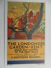 POSTCARD THE LONDONERS GARDEN - KENT - CHEAP DAY TICKETS TO THE KENT HILLS