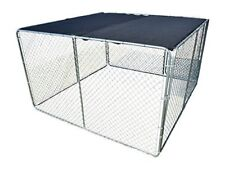 UV Rated 85% Block Dog Kennel Cover Sun Block Shade Top with Grommets and Cable