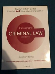 Criminal Law Concentrate: Law Revision and Study Guide - Concentrate (Paperback