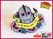 The IRON GIANT Metal Pin Badge Brooch - 1999 Animated Cartoon Superhero Movie US