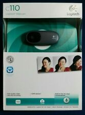 NEW Logitech C110 Web Cam 1.3MP photos, built in mic for clear conversations