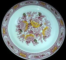 Ridgway 'Canterbury ' Staffordshire Red/Pink Multi Colour  10 inch Plate