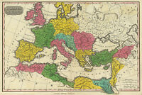 1831 Map of the extent of Roman Empire by region Wall Art Poster Print Decor