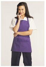 """Bib Apron, 3 Pockets, Adjustable Neck, Color: Purple, Size: 28""""W x 24""""L - 3011"""