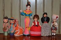 Vintage International Dolls Mixed Lot Asian Indian Chinese Mary Antoinette