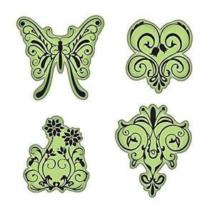 Inkadinkado Stamping Gear Cling Stamps, Butterfly Garden Scrapbooking Stamp Set