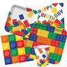 BLOCK PARTY Birthday Range - Kids Lego Fun Tableware Balloons & Decorations