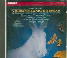 "MENDELSSOHN ""MIDSUMMER NIGHT'S DREAM"" CD COMPLETE PREVIN, LIND, CAIRNS RARE!"