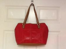 Nine West tote with tablet pocket red with multicolored interior  H17