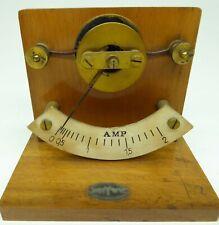 PHYWE Amperemeter Strommessgerät Telegraf Telefon Galvanoskop Telegrafie 1920