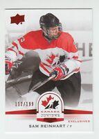 (56075) 2014-15 UPPER DECK TEAM CANADA JUNIORS RED SP SAM REINHART #62 (112/199)