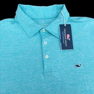 Vineyard Vines Performance St. Jean Stripe Sankaty Golf Polo Shirt 2XL $89.50