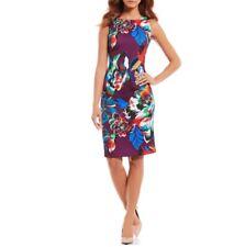 NWT Calvin Klein Purple Floral Print Scuba Sheath Dress Size 4 6 10 ($134)