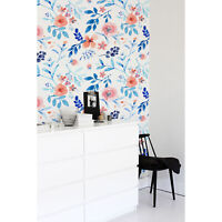 Watercolor Flowers Removable Botanical Decorative Wall Art. Sticker wall mural