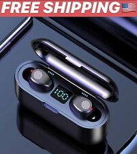 Earphone Bluetooth V5.0 F9 HF Stereo Earbuds LED Display Touch Control