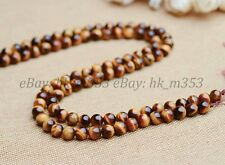 15'' Natural Tiger's Eye Red Gold Blue Green Pink Assorted Gemstone Round Beads