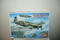 MAQUETTE ICM YAK-7A SOVIET FIGHTER  1/48 MODEL KIT  VINTAGE  PLANE/PLANO NEUF