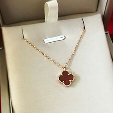 VC Inspired Sweet Alhambra 18 K Rose Gold Necklace AU 750 Lucky Motifs/ Heart