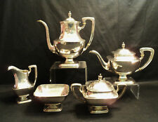Gorgeous 5-Pc Towle Sterling Silver Coffee / Tea Set, Discontinued Pattern #7677