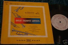 "GREAT TRUMPET ARTISTS RCA VICTOR 10"" LP"