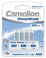 4x Camelion Akku Micro AAA R3 / HR3 800mAh 1,2V