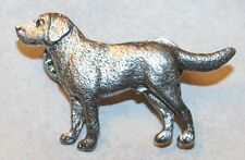 Labrador Retriever Lab Dog Fine PEWTER PIN Jewelry Art USA Made