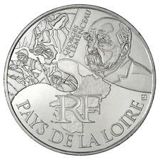 10 euros des régions personnages en argent Pays de la loire 2012