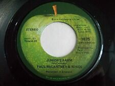Paul McCartney & Wings Junior's Farm / Sally G 45 1974 Apple Vinyl Record