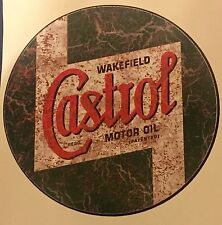 CASTROL Retrò RUSTY effetto invecchiato in Vinile Adesivo Decalcomania Auto Wall Art Ratto