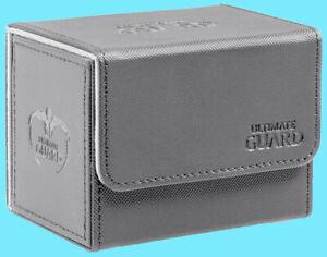 ULTIMATE GUARD XENOSKIN GREY SIDEWINDER 80+ DECK CASE Side Loading Card Box MTG