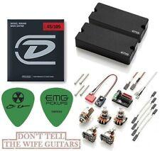 EMG DE Set Black David Ellefson 4 String Soapbar Bass 35DC & 35CS ( STRINGS )
