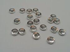 20 Tibetan Silver Donut Beads, 6x6x2mm, Hole 3mm