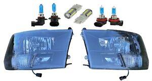 Black Quad Headlights Lamps Head Light Pair for 2009-18 Ram 1500 2500 3500 4500
