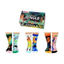 United Oddsocks Get Ready to Jungle Set Of 6 Mismatched UK 12-5.5 Girls Socks