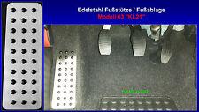 Fußstütze Fußablage Pedal Fiat 500 Edelstahl neu