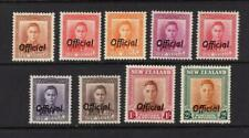 New Zealand 1946-51 Officials Set - OG MLH - SC# O92-O99   Cats $77.15
