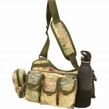Tree Camo UTILITY Shoulder Sling DAY PACK Multiple Pockets -Military Bug Out Bag