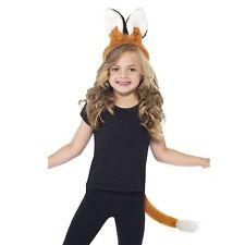 Kids Girls Boys Mr Mrs Fox Set Costume Ears Tail Book Week Animal Fancy Dress